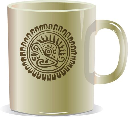 ancient mug illustration Vector