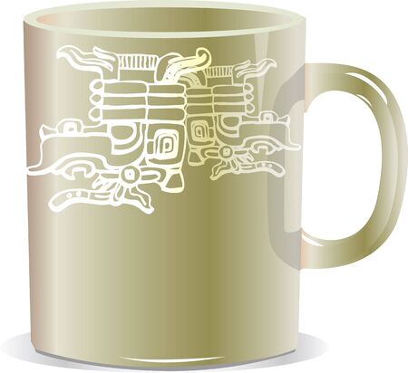 ancient mug illustration Stock Vector - 17065816