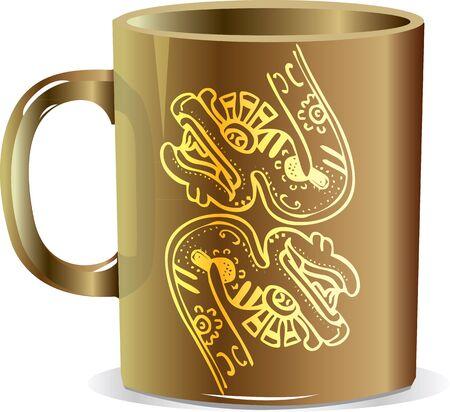 ancient mug illustration Stock Vector - 17065819