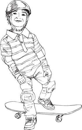 skatepark: Skater boy illustration Illustration