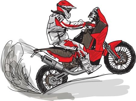 Abstract sketch of biker Illustration