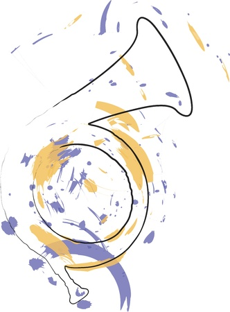 trombones: Music Instrument. Vector illustration Illustration