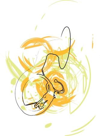 baritones: Music Instrument. Vector illustration Illustration