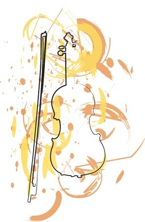 instrument de musique abstraite Illustration