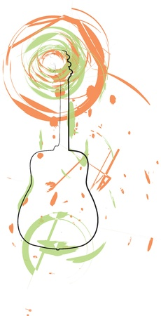 Abstract guitar illustration Stock Vector - 18172651