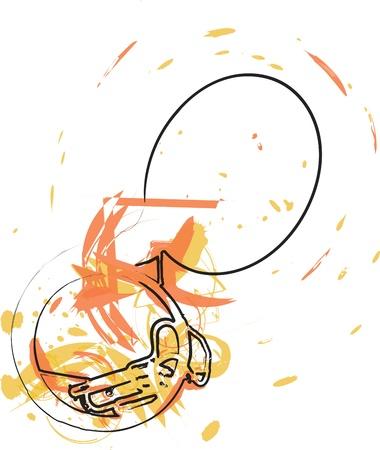 decibels: Music Instrument. Vector illustration Illustration