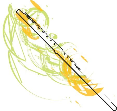 transverse: abstract Flute illustration