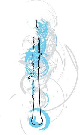 abstrakte Flute Darstellung