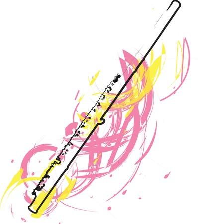 clarinete: Flauta ilustraci�n abstracta
