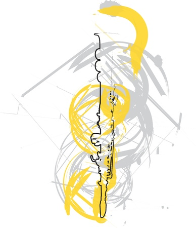 boehm flute: abstract Flute illustration