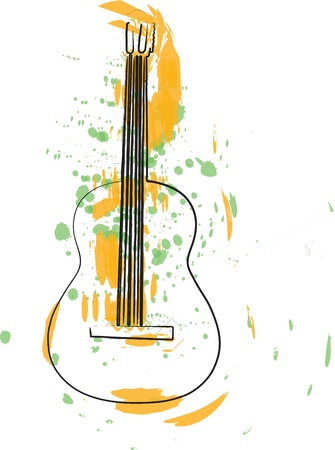 accords: Abstract guitar illustration