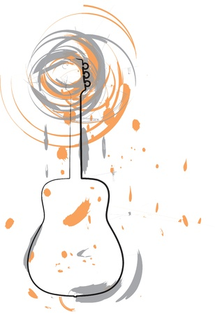 Abstract guitar illustration Vector