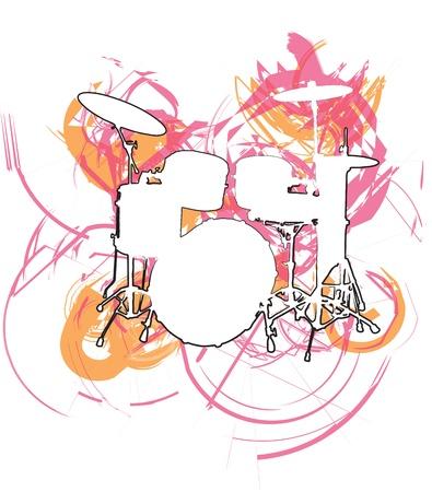 Muziekfestival. Vector illustratie