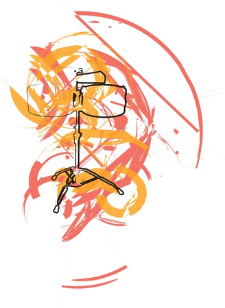 accords: Abstract drum illustration