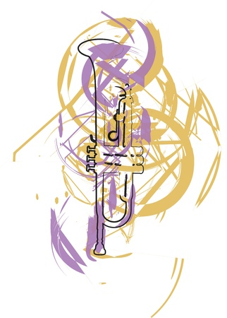 cornetta: Strumento musicale. Vector illustration