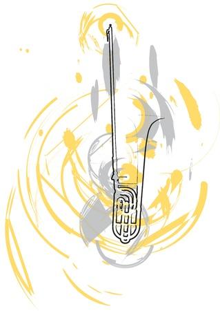 accords: Music Instrument. Vector illustration Illustration