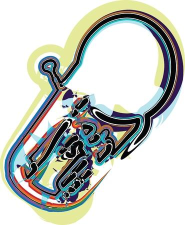 strident: Music Instrument. Vector illustration Illustration