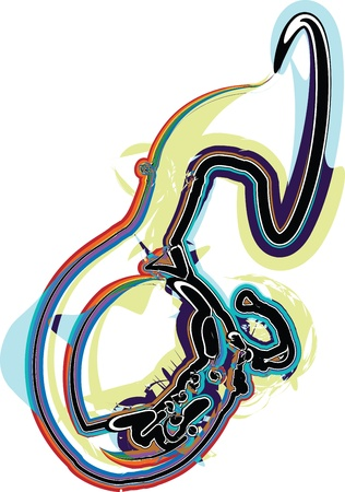 trombones: Music Instrument.  illustration Illustration