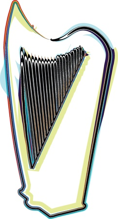 accords: Abstract harp illustration