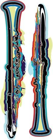 clarinet: Flauta ilustraci�n abstracta