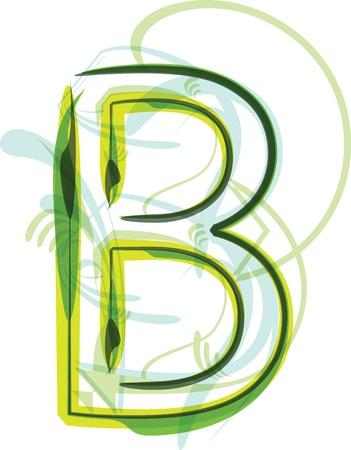 Green letter b Stock Vector - 18387753
