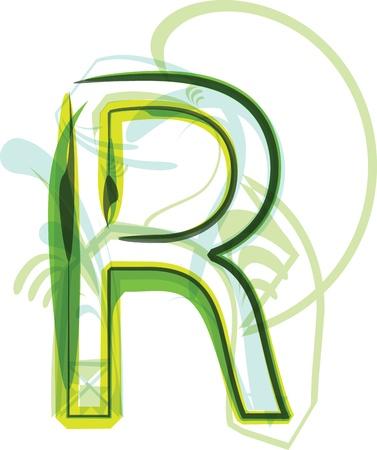 Green letter r Stock Vector - 18387747