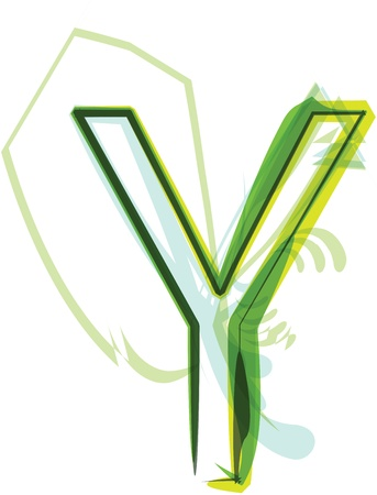 Green letter Y Stock Vector - 18387684