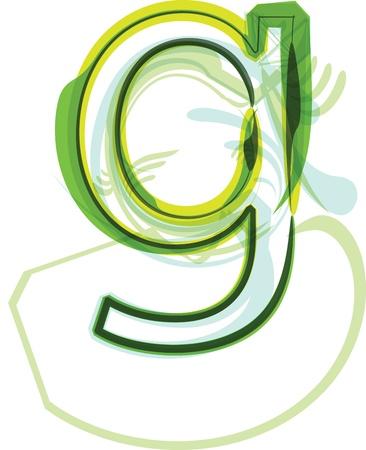 Green letter g Stock Vector - 18387759