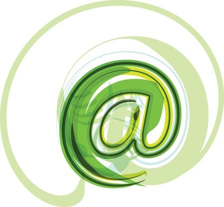 Green letter Stock Vector - 18500210