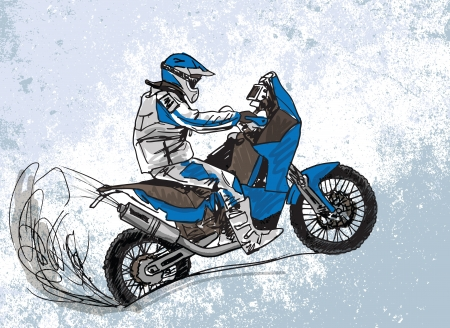 freeride: Abstract sketch of biker  Illustration