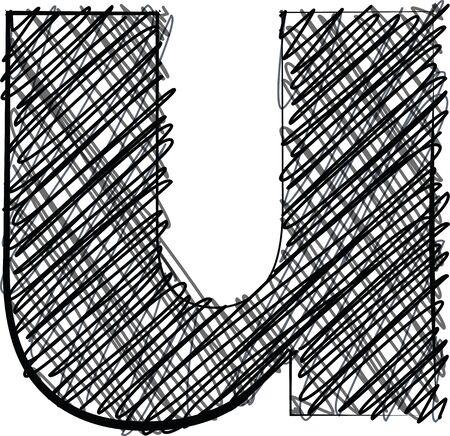 l hand: Hand draw font  LETTER l  Vector illustration