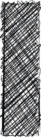 l hand: Hand draw font. LETTER l. Vector illustration Illustration