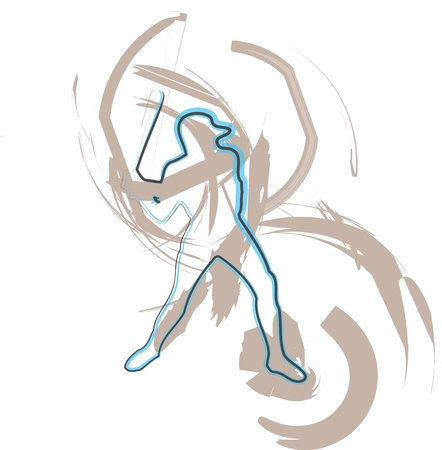 Baseball player in action Vector