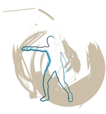 discus: Athlete throwing the discus  Illustration