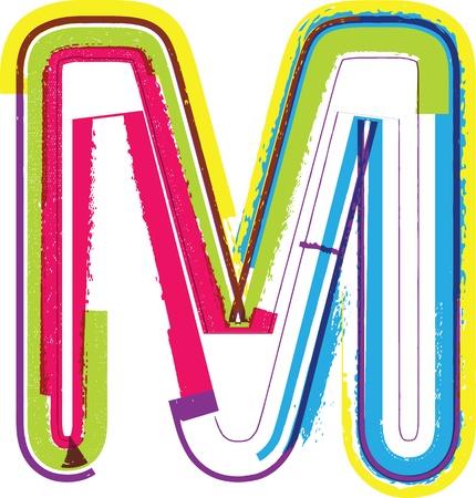 letra m: Colorful Grunge LETRA M Vectores