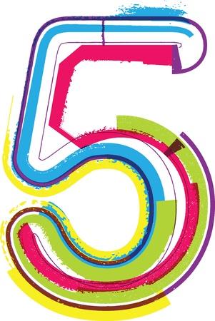 number 5: Colorful Grunge NUMBER 5