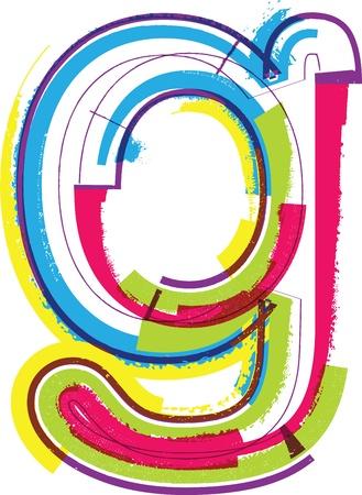 g alphabet: Colorful Grunge LETTER g Illustration
