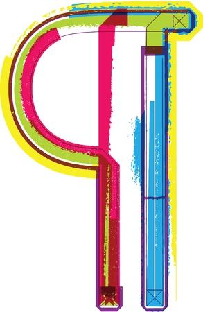correttore: Colorful simbolo Grunge Vettoriali