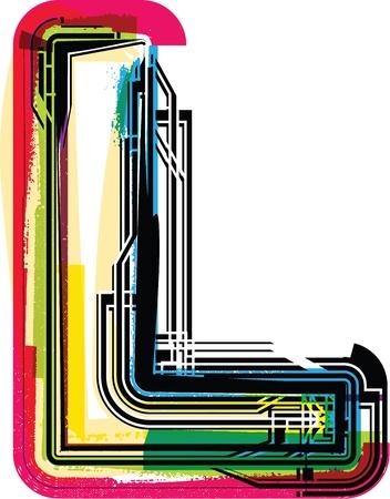 Colorful Grunge LETTER L
