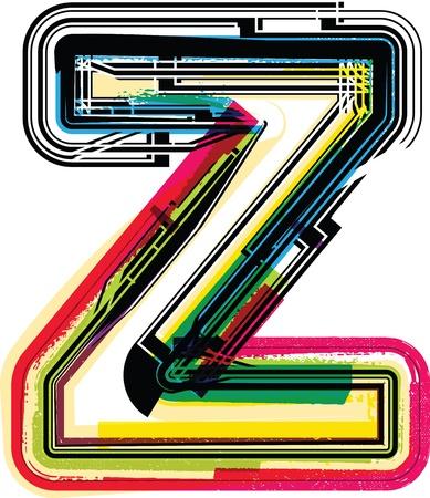 buchstabe z: Colorful Grunge Letter Z