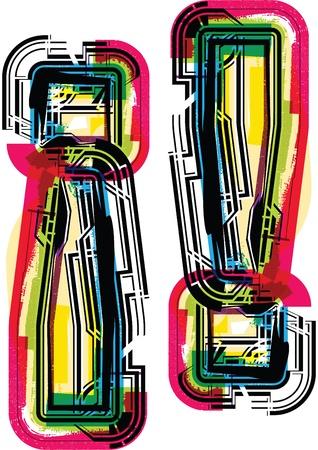 Colorful Grunge ! symbol