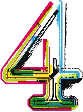 number 4: Colorful Grunge NUMBER 4