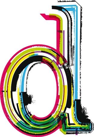 letter d: Colorful Grunge LETTER d