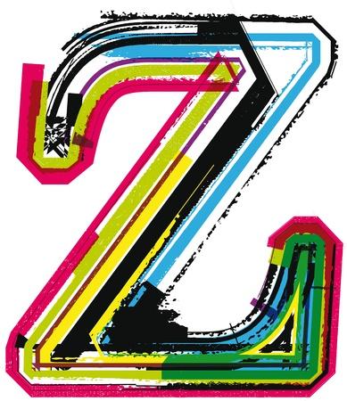 letter z: Colorful Grunge LETTER z Illustration