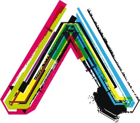 upper school: Colorful Grunge symbol