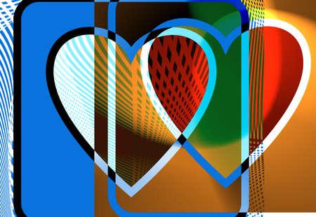 fragmented: Heart illustration