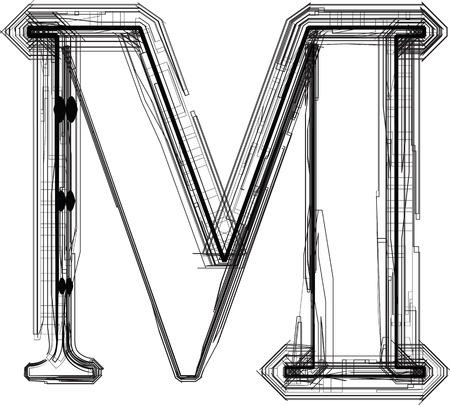 letra m: fuente tecnol�gica LETRA M