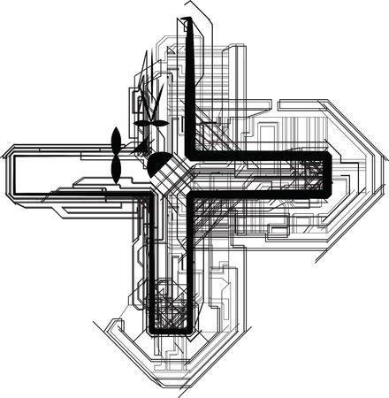 technological font symbol Stock Vector - 22691348