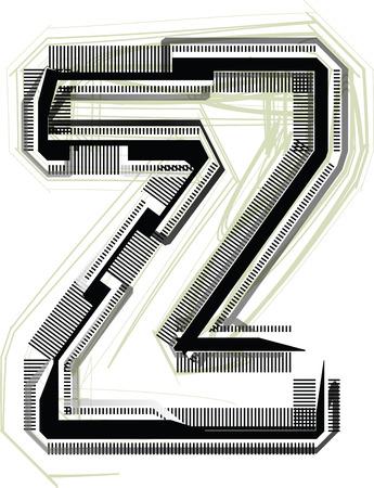buchstabe z: technologische font Buchstaben Z