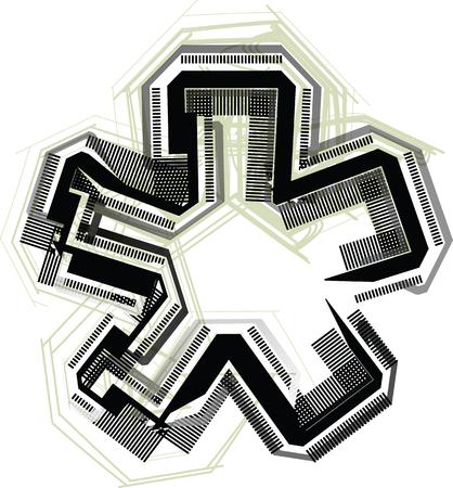 asterisk: technological font symbol
